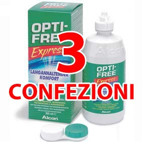 OFFERTA 3 CONFEZIONI Optifree Express Alcon 360 ML