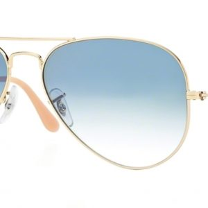 Ray-ban 3025 GOLD colore 001/3F lenti crystal gradient light blue