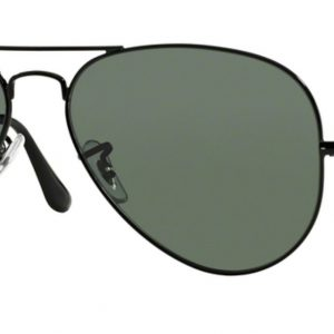 Ray-ban 3025 BLACK colore 002/58 lenti crystal green polarized