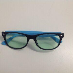 occhiale per videoterminale frontale nero aste azzurre